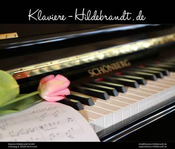 Schönberg Klavier mit Tulpe